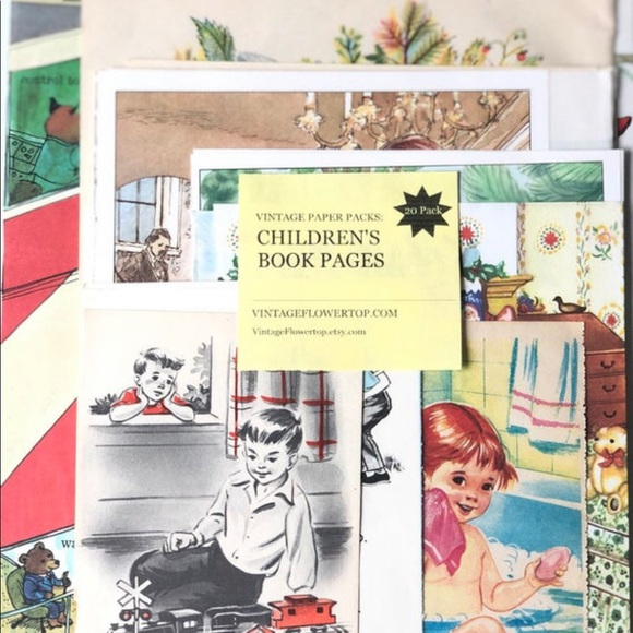 Old Childrens Paper Craft Ephemera Illustration
